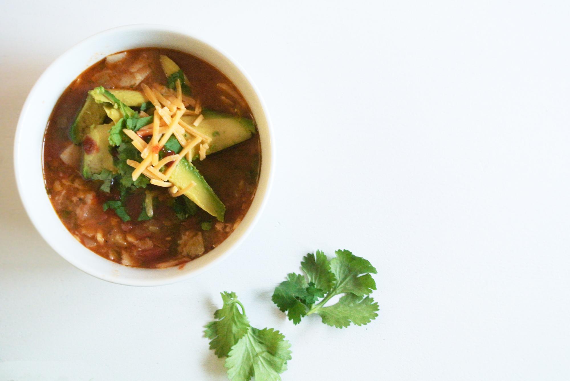 Turkey Tortilla Soup Recipe via. Birdie Shoots