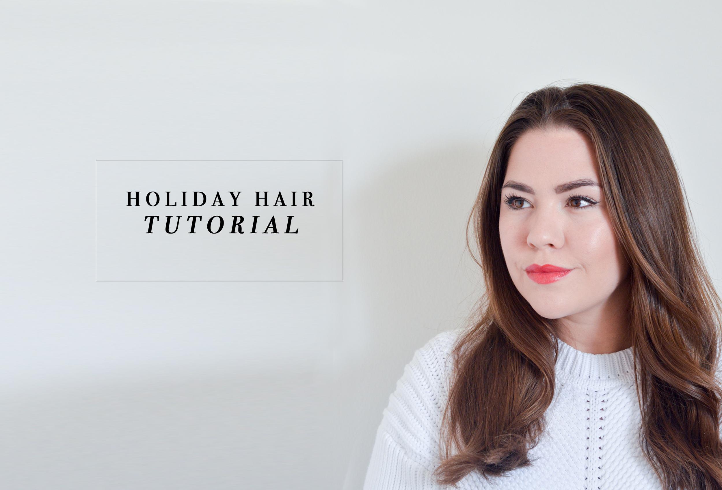Holiday Hair Tutorial via. Birdie Shoots