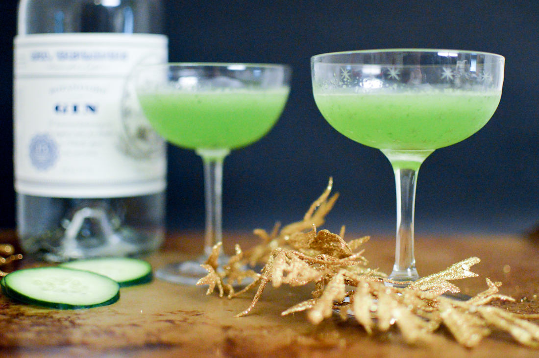 Cucumber Crush Cocktail via. Birdie Shoots Blog