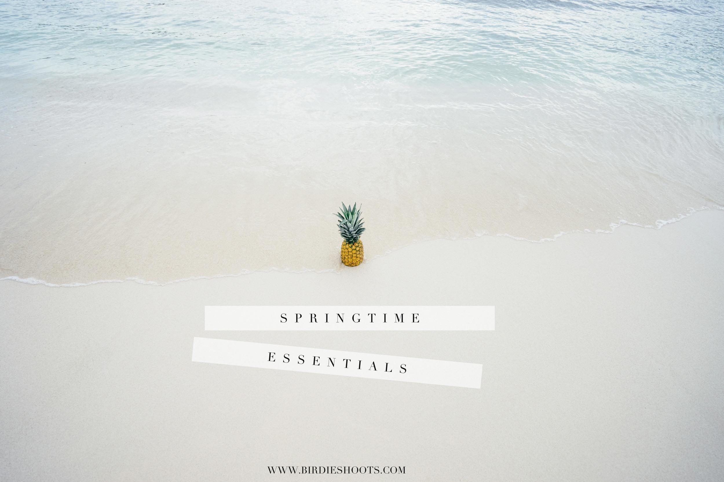 Springtime clothing and accessory essentials via. www.birdieshoots.com