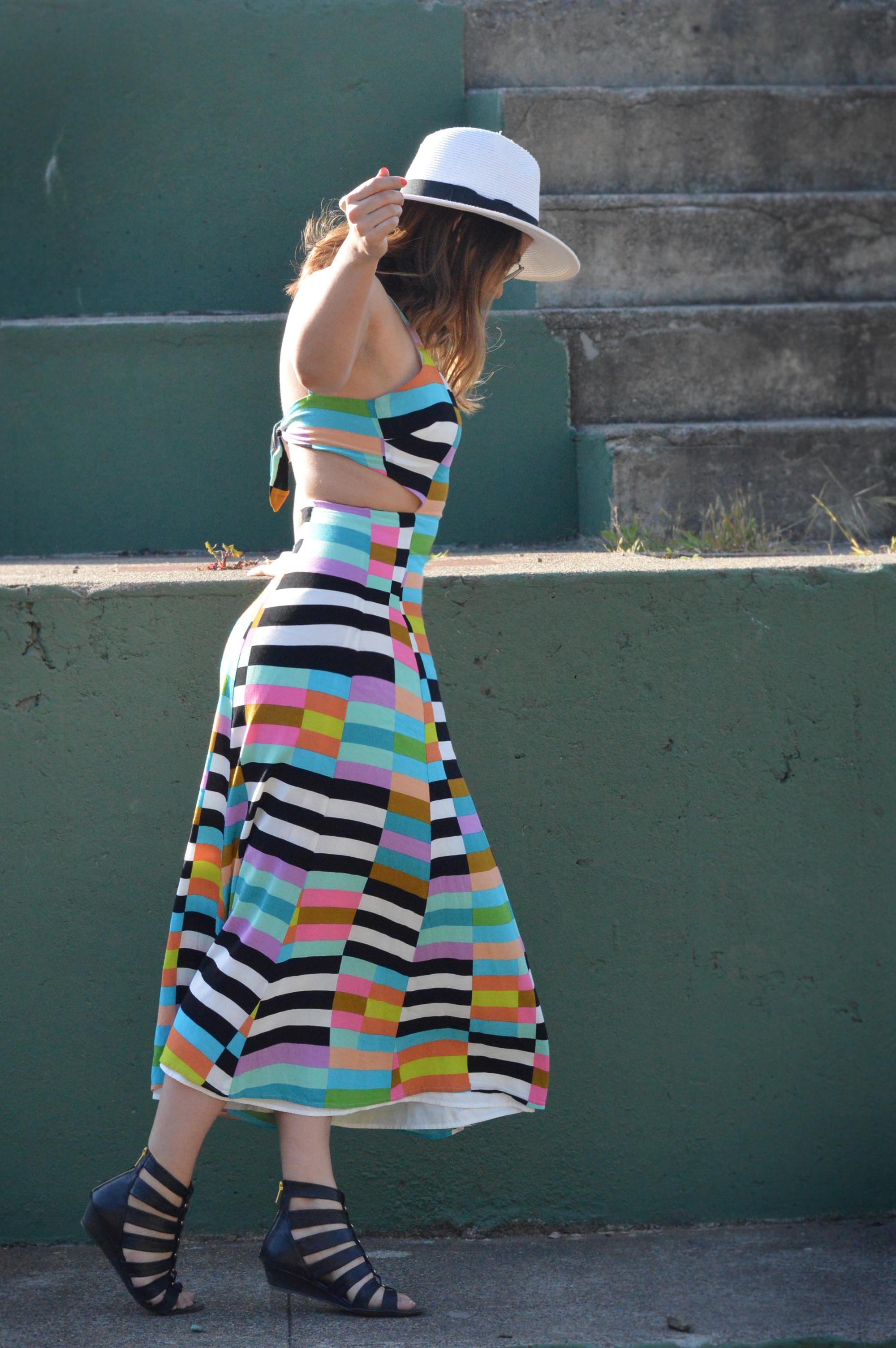 Mara Hoffman Striped Sun Dress via. www.birdieshoots.com