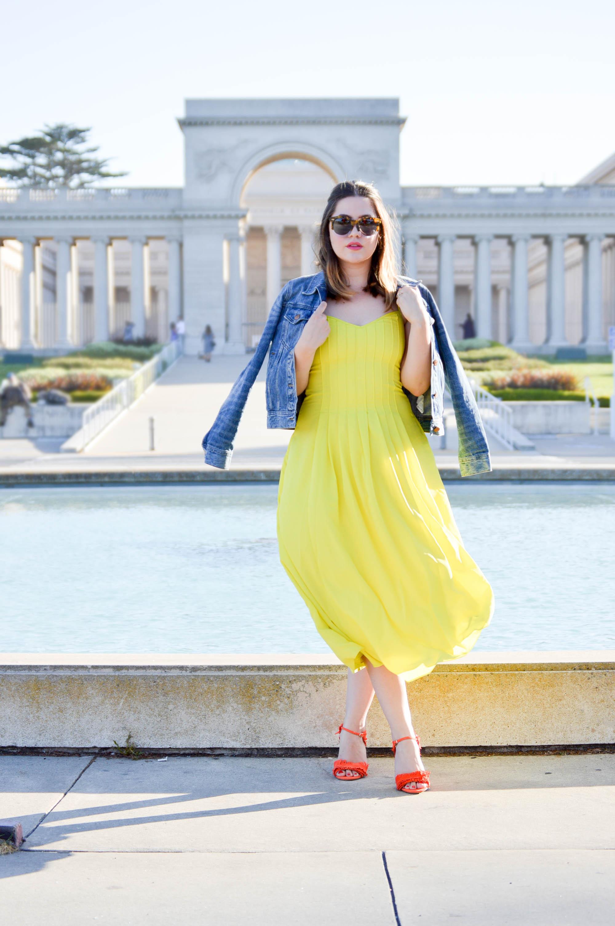 Pop into Color with Banana Republic via. www.birdieshoots.com