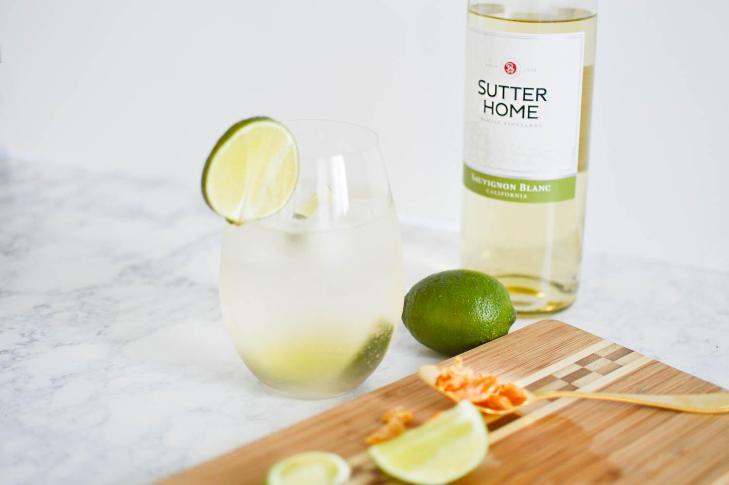 Summer Ginger Spritz with Sutter Home via. www.birdieshoots.com