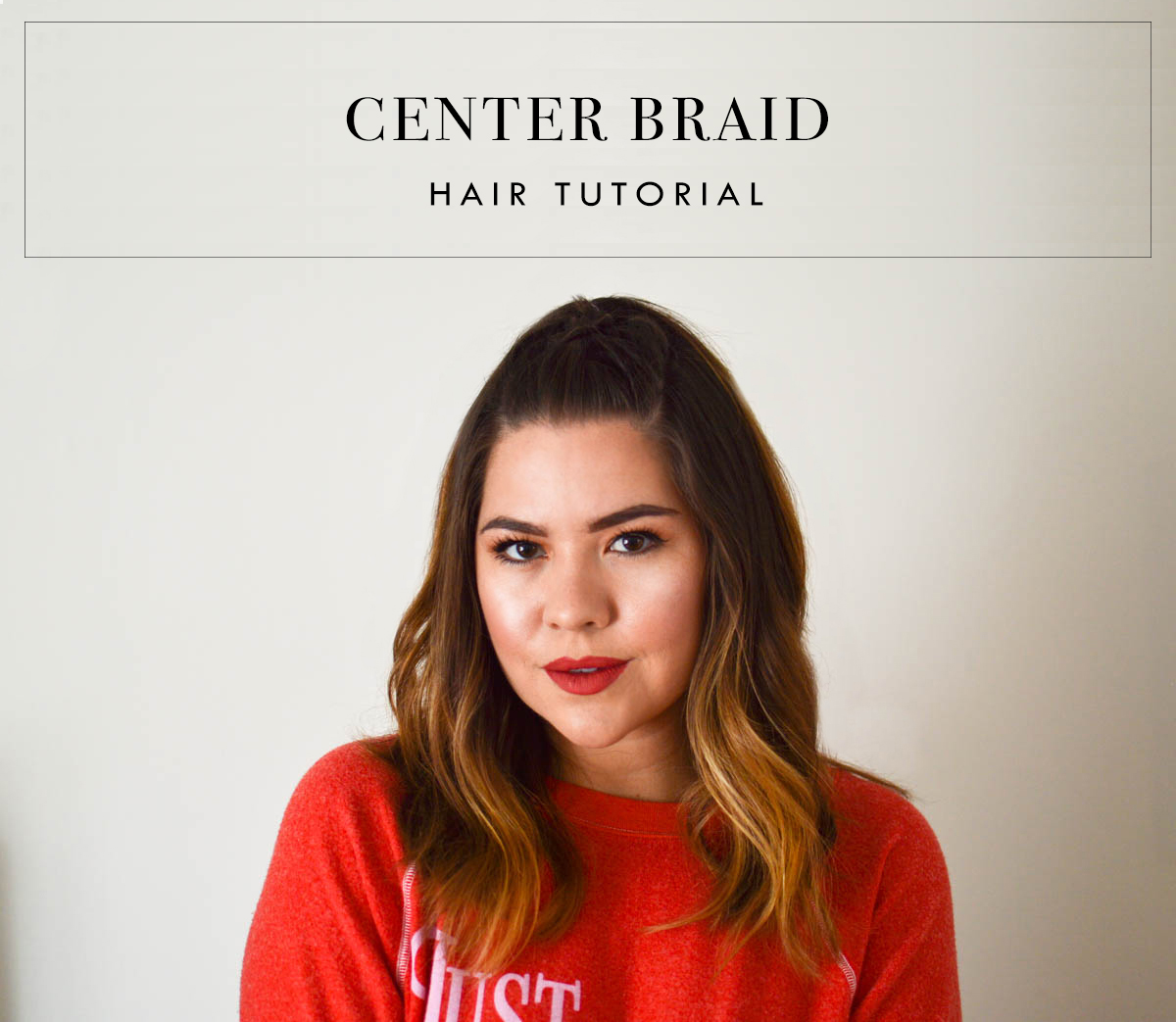 Center Braid Hair Tutorial via. www.birdieshoots.com