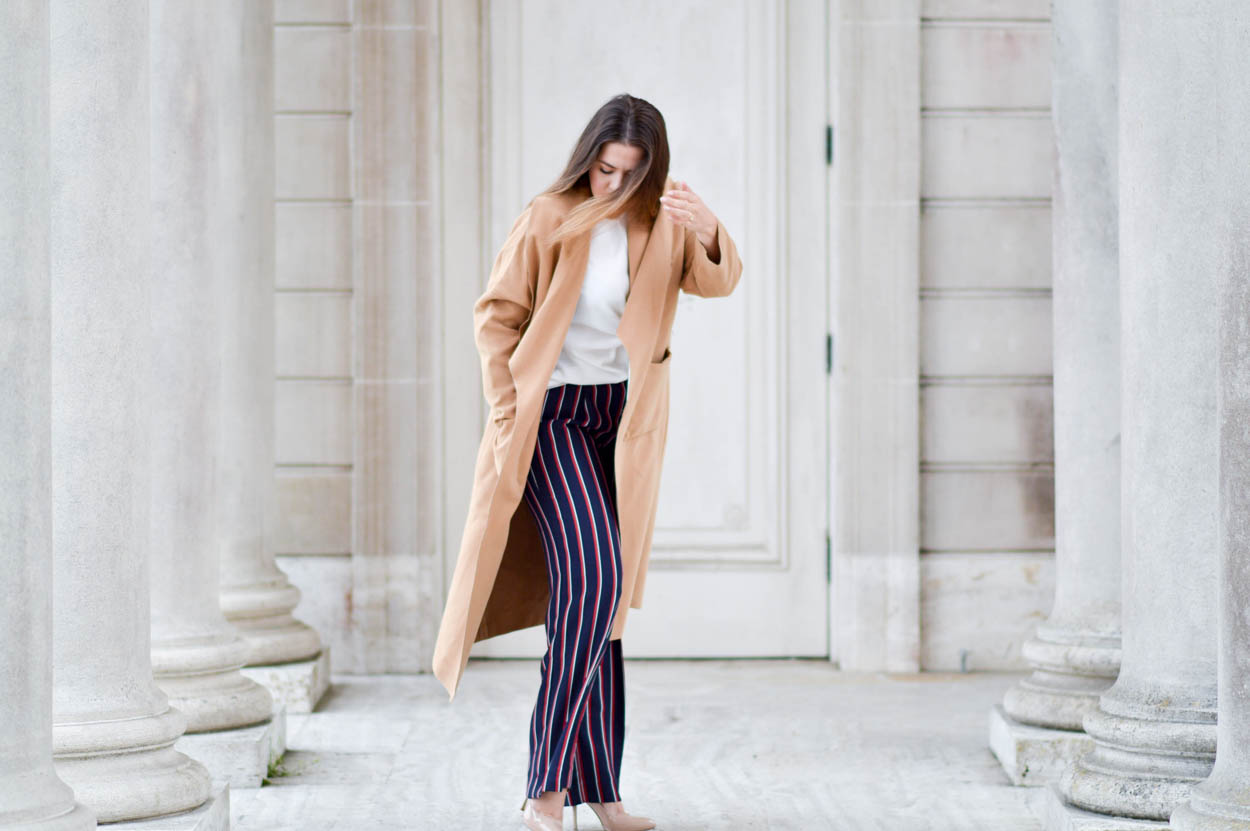 Wide Leg Striped Pants Fall 2016 via. www.birdieshoots.com