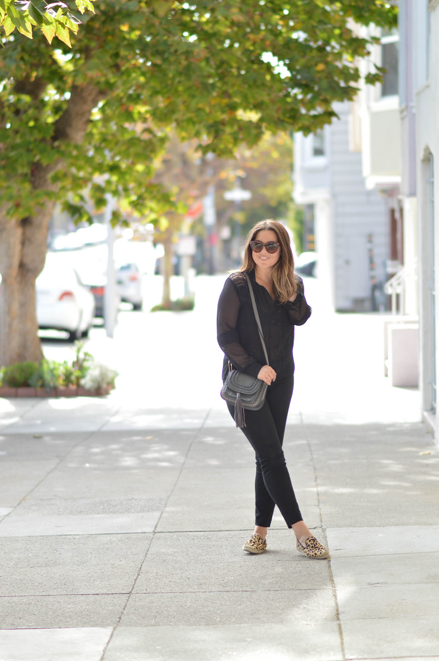 Black Lace Blouse, Late summer in San Francisco  via. www.birdieshoots.com
