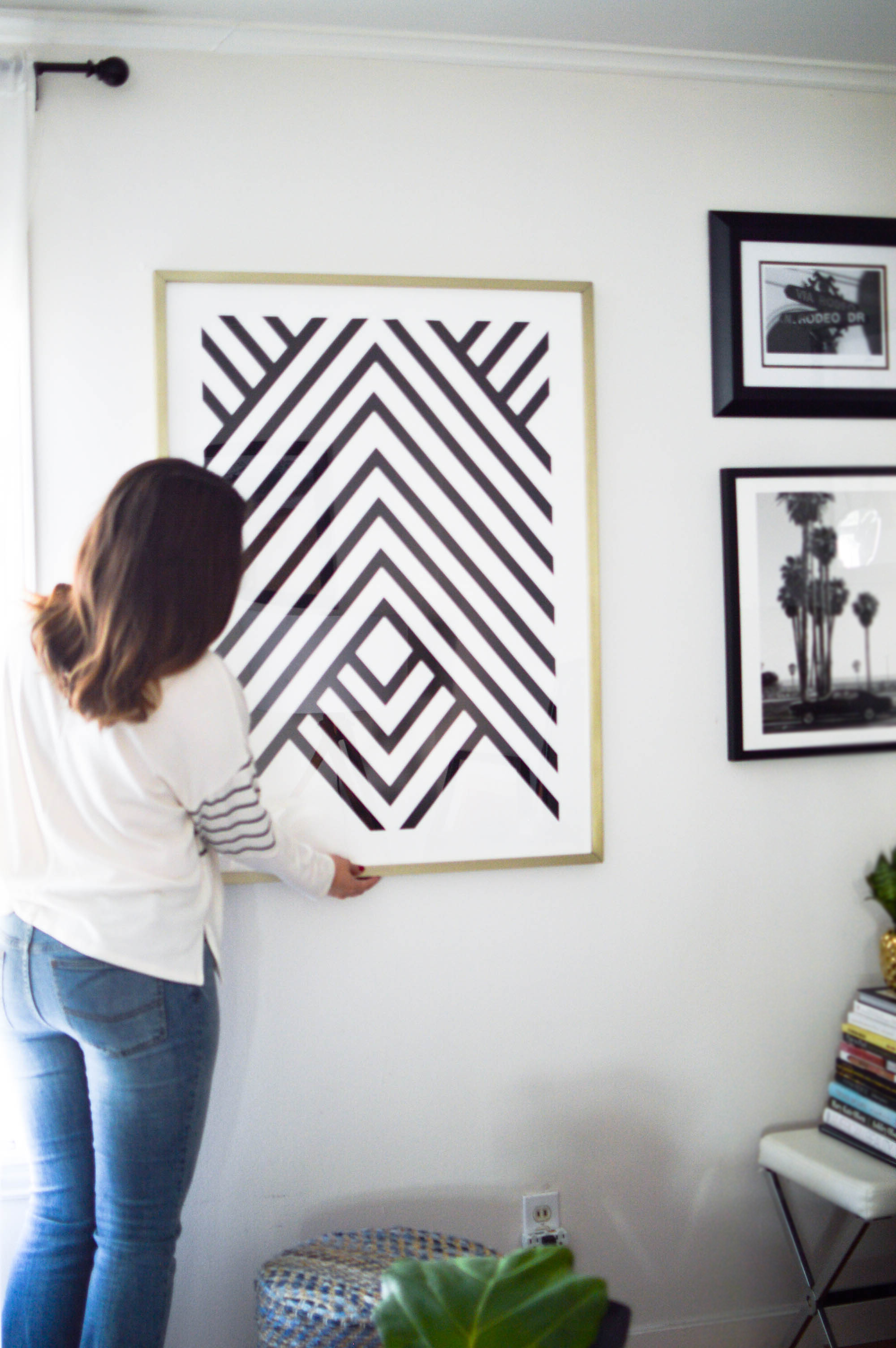 Rental Life, Decorating with Minted Art via. www.birdieshoots.com