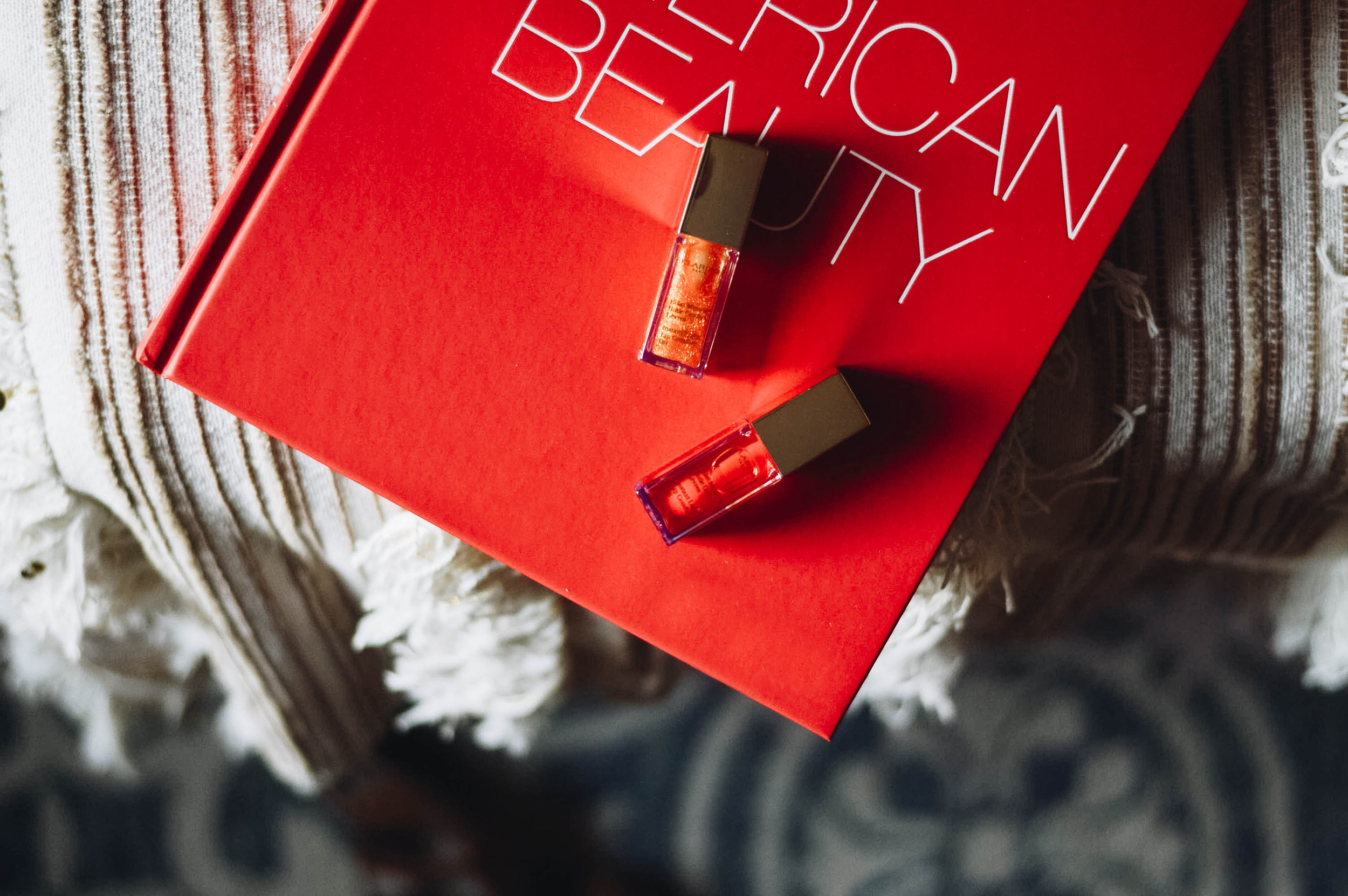 Late Spring Beauty, featuring Clarin's Lip Oil via. www.birdieshoots.com