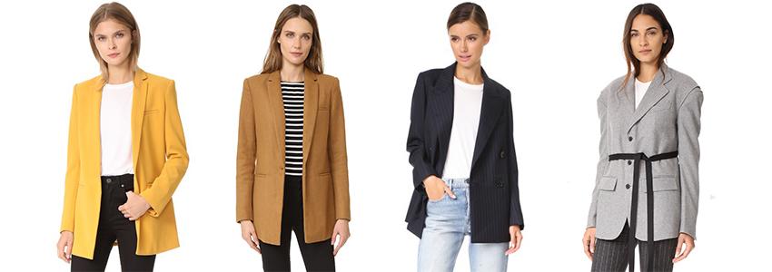 SHOPBOP Fall Sale, Your Shopping Checklist - Long Blazers via. www.birdieshoots.com