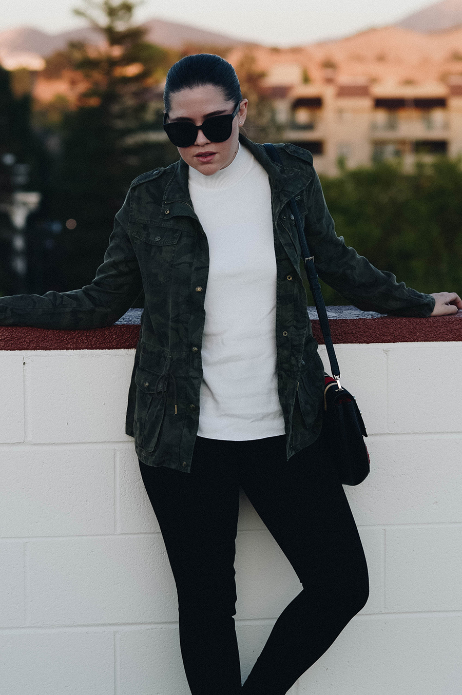 How to Style a Camouflage utility jacket  via. Birdie Shoots