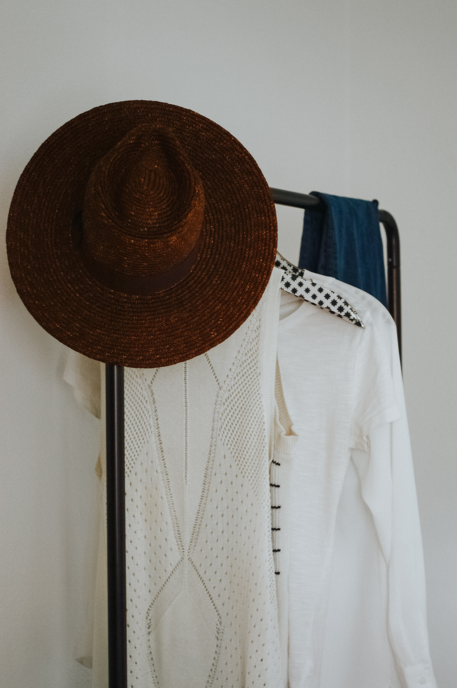 Classic Cotton Pieces for Summer, clothing rack via. Birdie Shoots