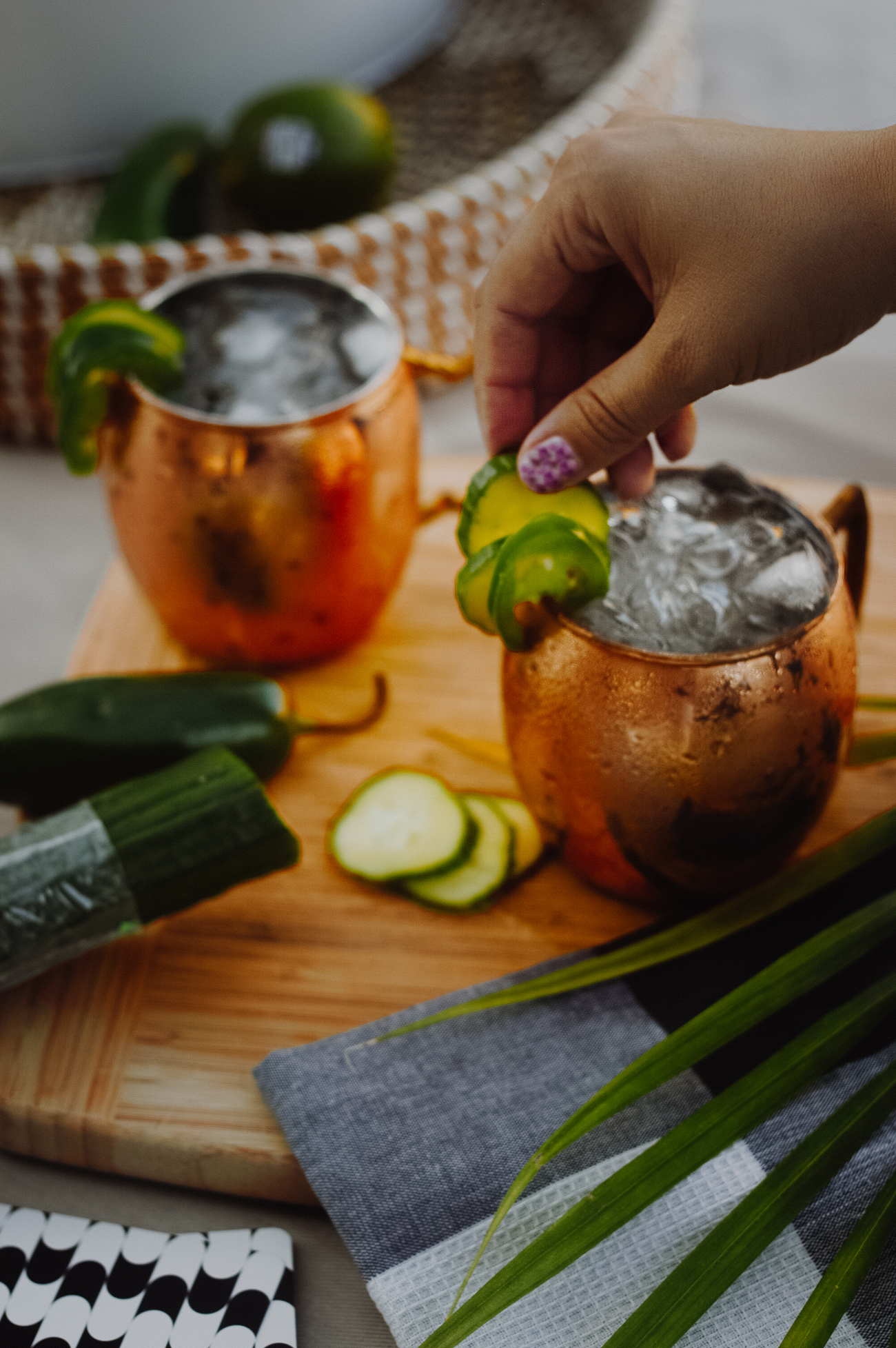 Jalapeño-Cucumber Mule: A new Twist on a Classic Cocktail via. Birdie Shoots | www.birdieshoots.com