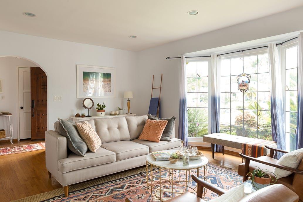 Living Room Redesign Inspiration via. Birdie Shoots