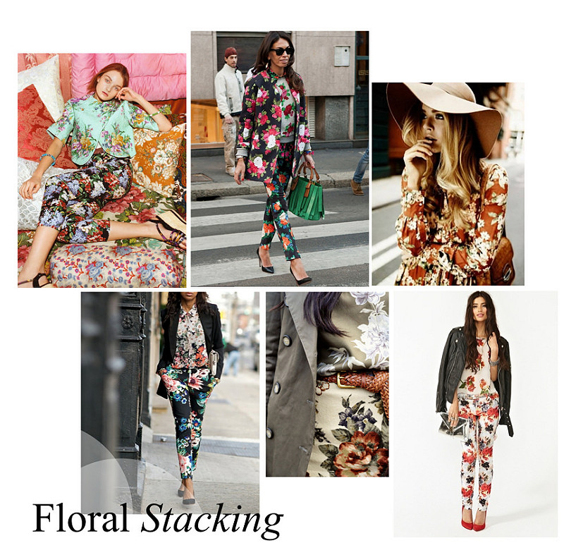 How to Stack Floral Prints via. Kelly Fordon