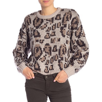 John & Jenn - Long Sleeve Patterned Sweater is now 73% off.