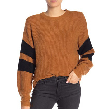 John & Jenn - Varsity Stripe Sweater.