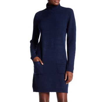 Max Studio - Mock Neck Long Sleeve Patch Pocket Sweater Dress is now 67% off.