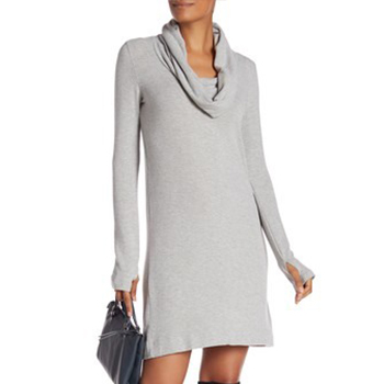 Joan Vass - Velvet Cowl Neck Dress is now 80% off.