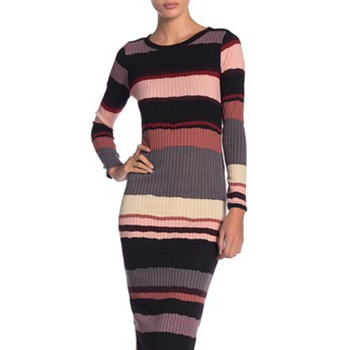 Abound - Long Sleeve Stripe Dress.