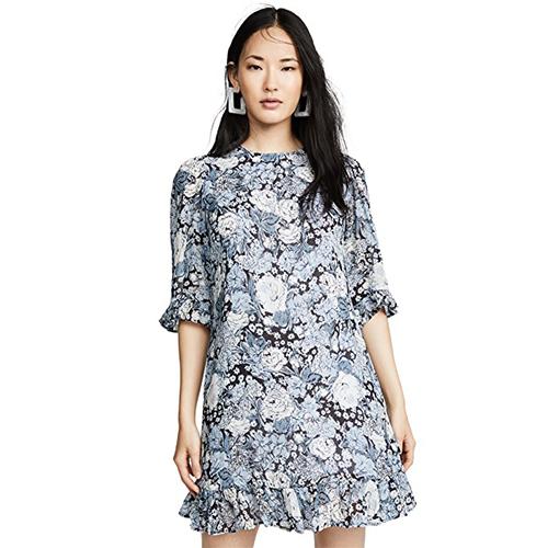 GANNI Printed Georgette Dress | SHOPBOP