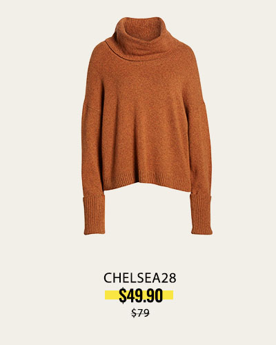 CHELSEA28 Cowl Neck Sweater in Orange Jam Heather NOW $49.90 | was $79