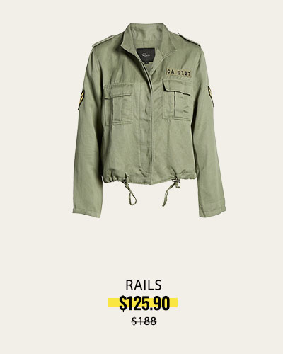 RAILS NORDSTROM Military Jacket, Alternate, color, SAGE MILITARY Rowen Military Jacket
