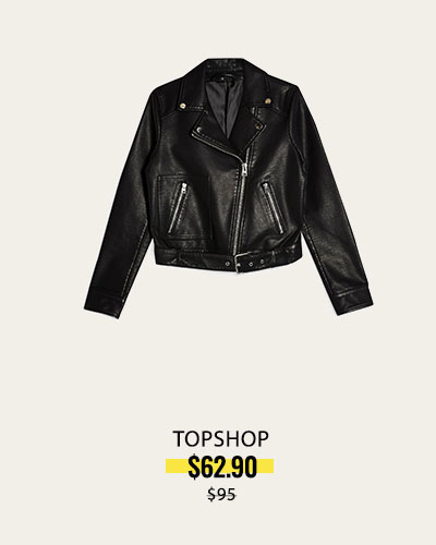 NORDSTROM SALE - Crop Moto Jacket, Alternate, color, BLACK Kota Faux Leather Crop Moto Jacket TOPSHOP