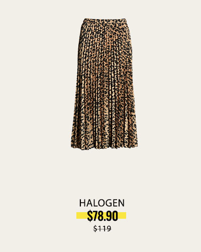 HALOGEN Skirt in Taupe Animal Print NOW $78.90 | was $119.00