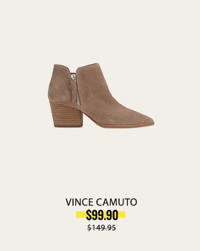 Perforated Bootie FOXY SUEDE | Nethera Perforated Bootie | VINCE CAMUTO