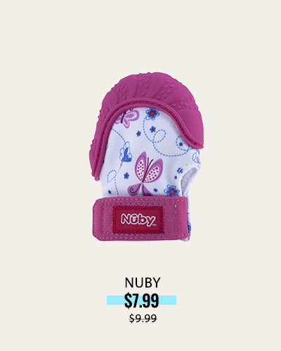 NUBY SOOTHING TEETHING MITTEN WITH HYGIENIC