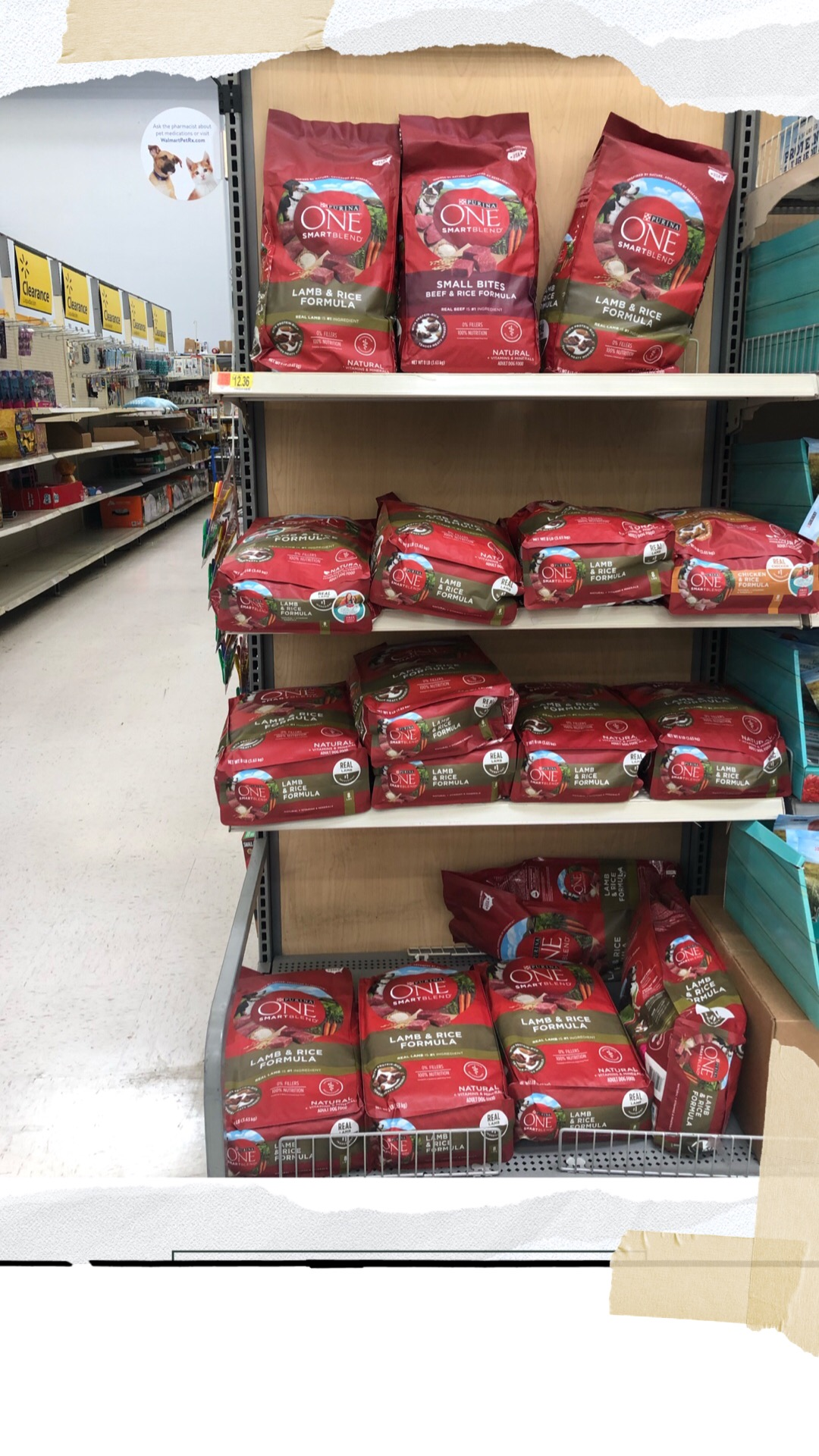 Purina® ONE® can be found at Walmart on the Pet Supplies aisle.