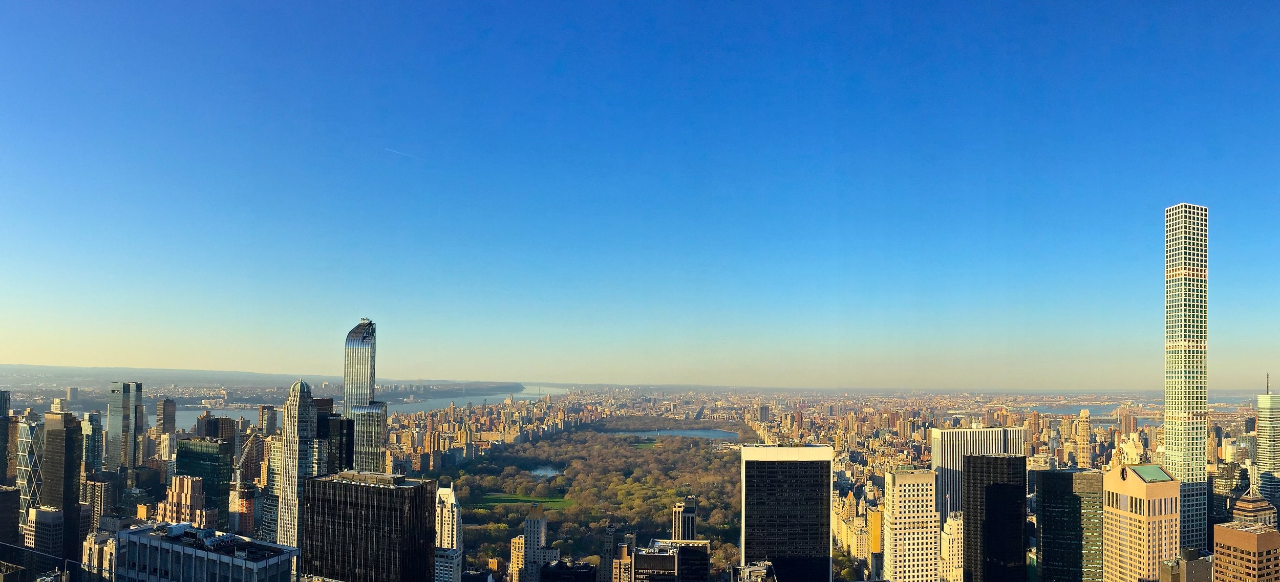 View of Central Park from 30 Rockefeller Observation Deck (Top of the Rock)