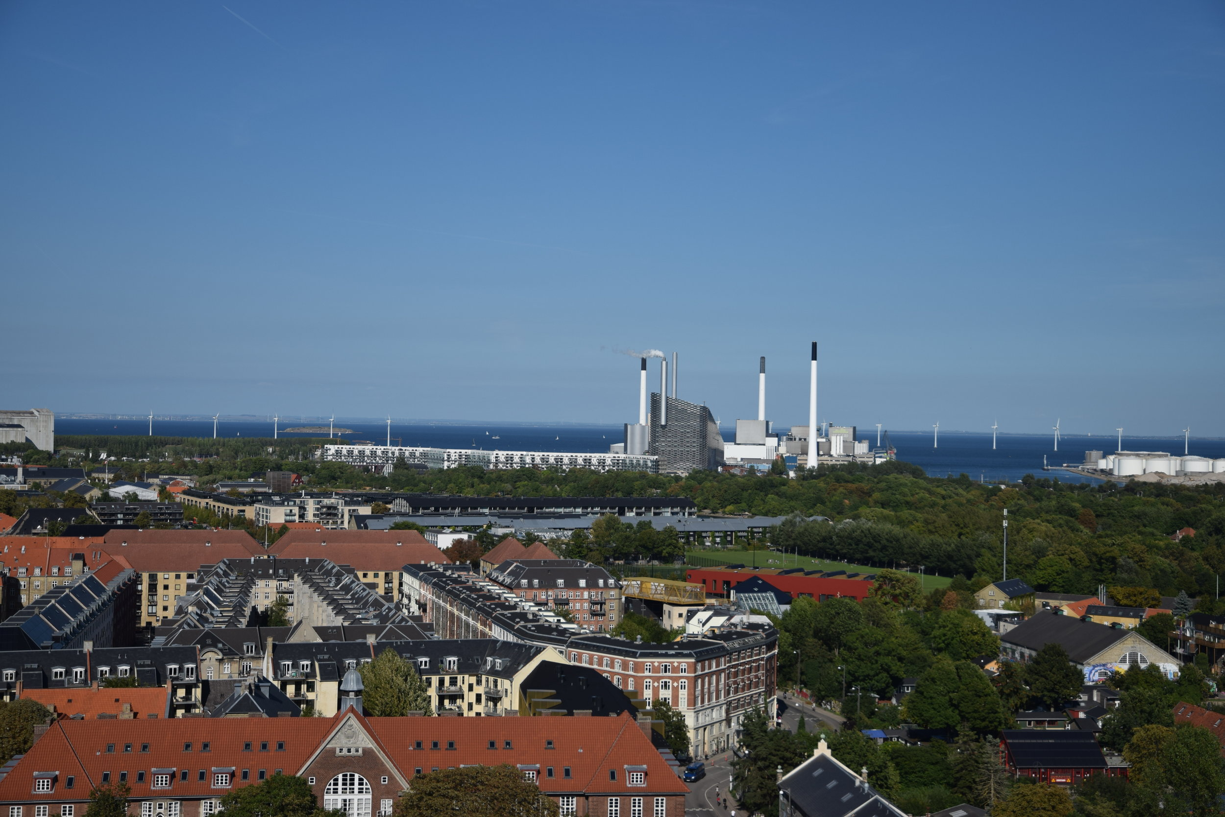 View North: Power Station and Wind Farm