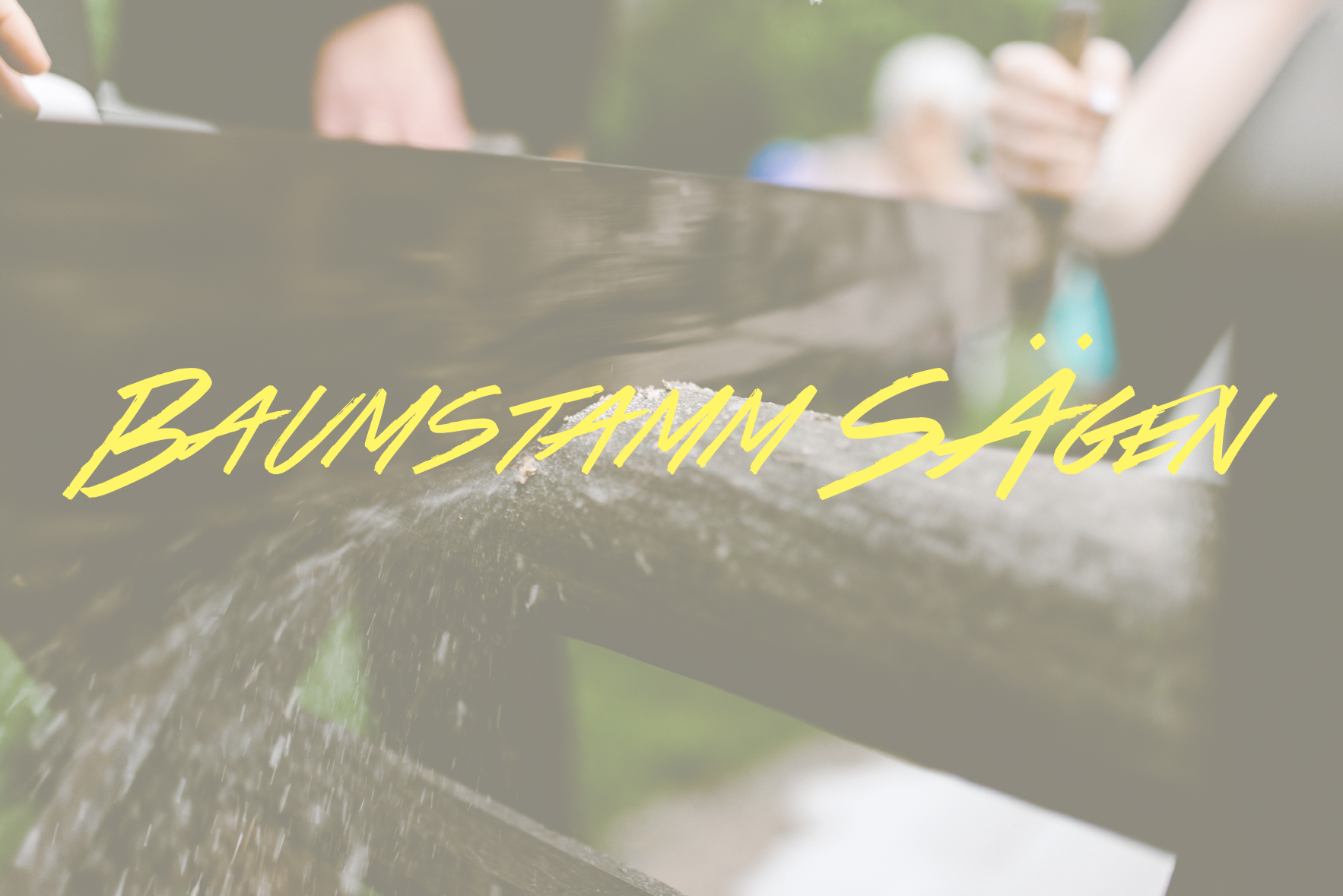 Baumstamm Sägen is another German wedding tradition where the couple saws a log in half to symbolize the first obstacle they must overcome in their marriage.