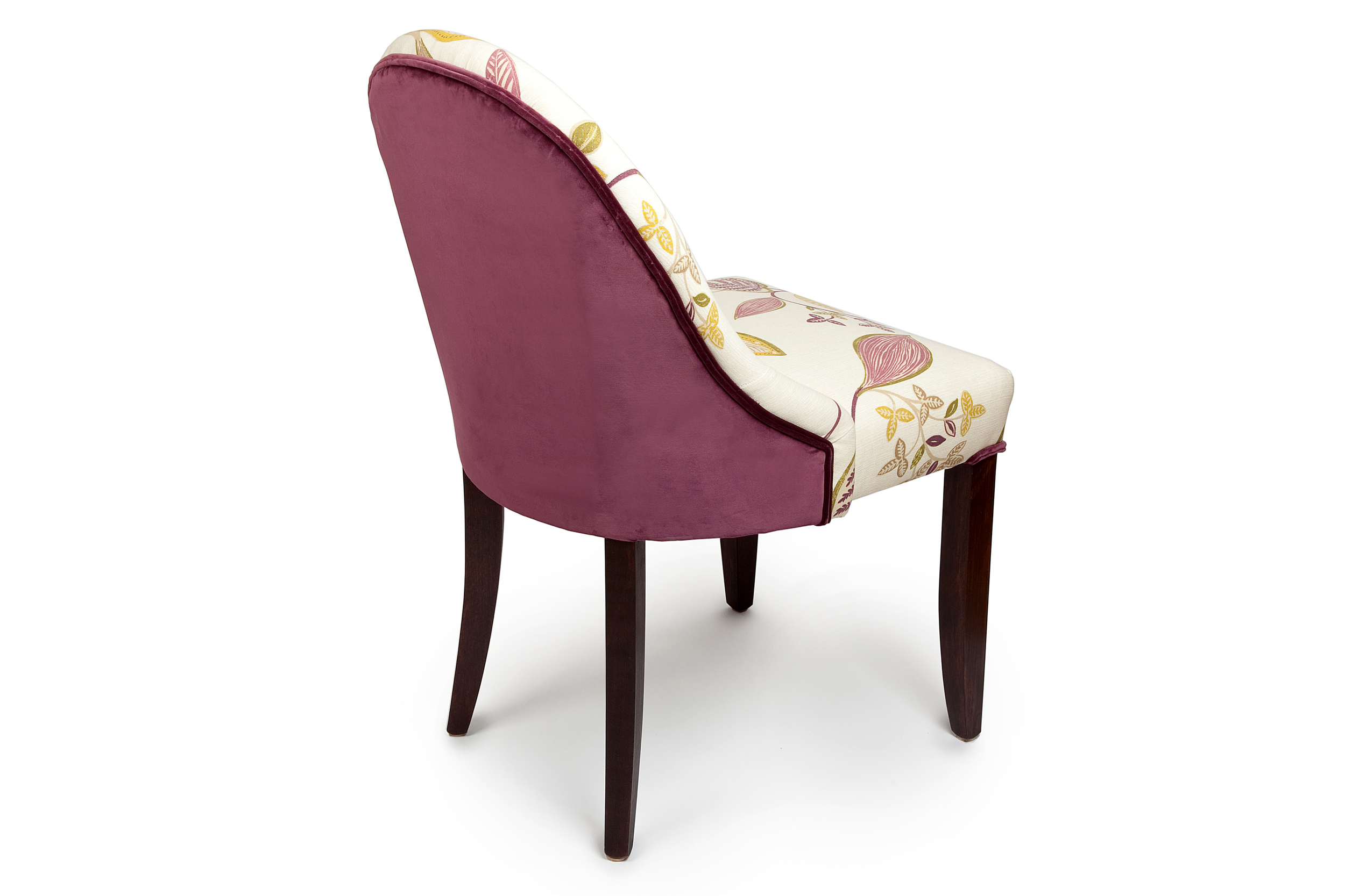 Anne Dining Chair with back in contrast fabric