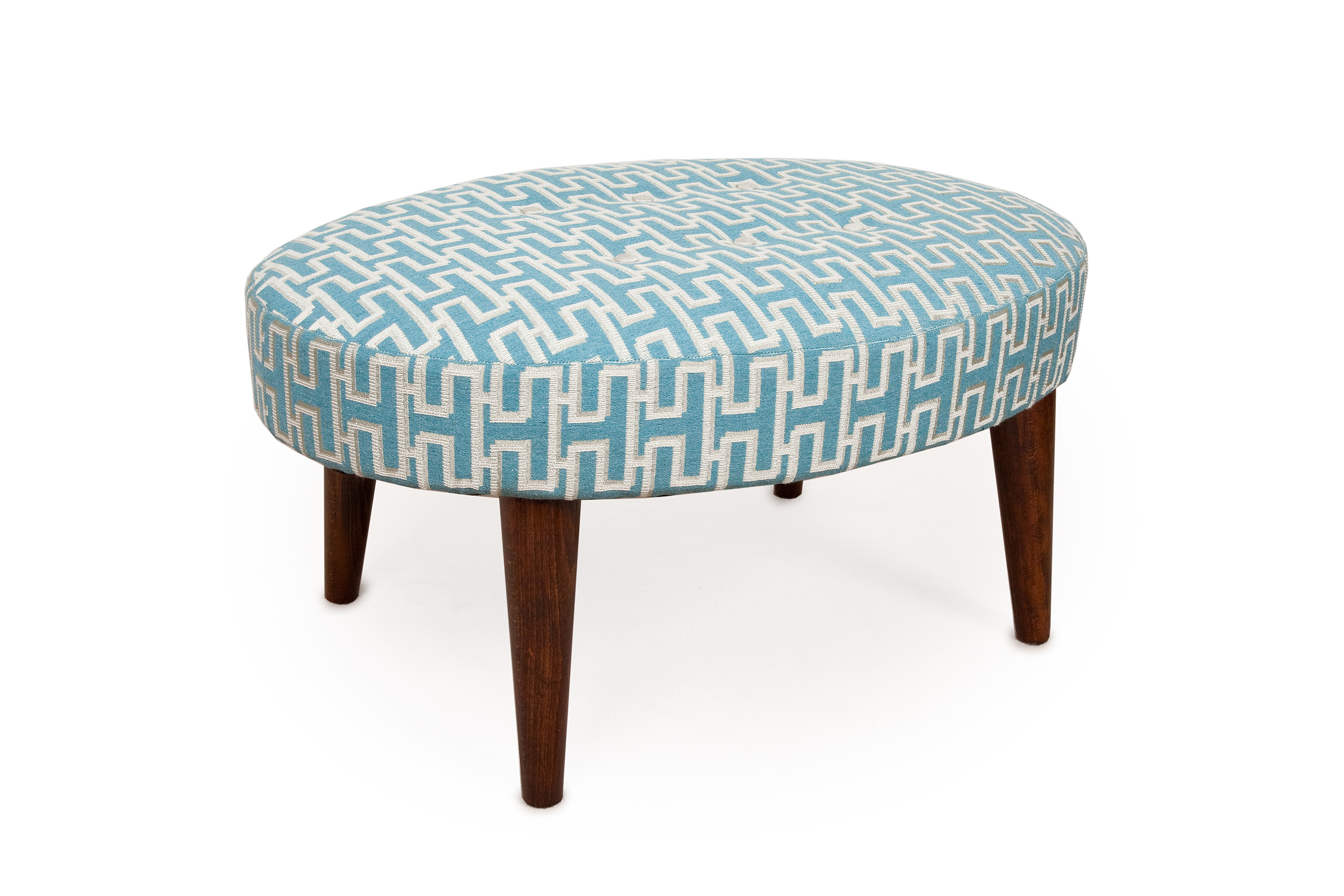 Small oval Stool £295 + fabric