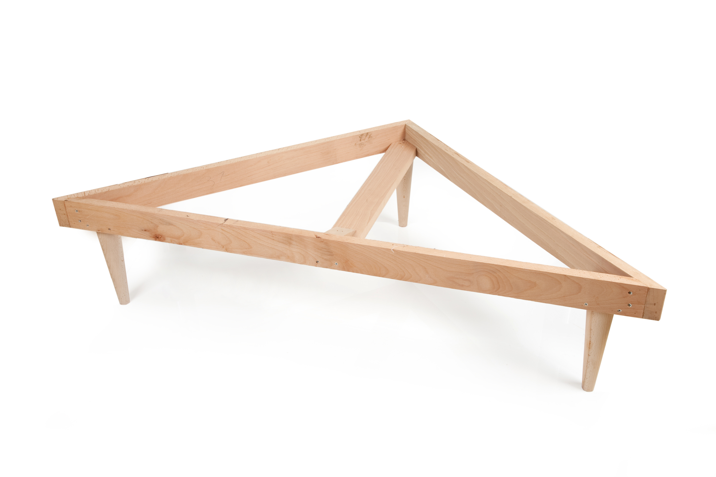 Hardwood footstool frame