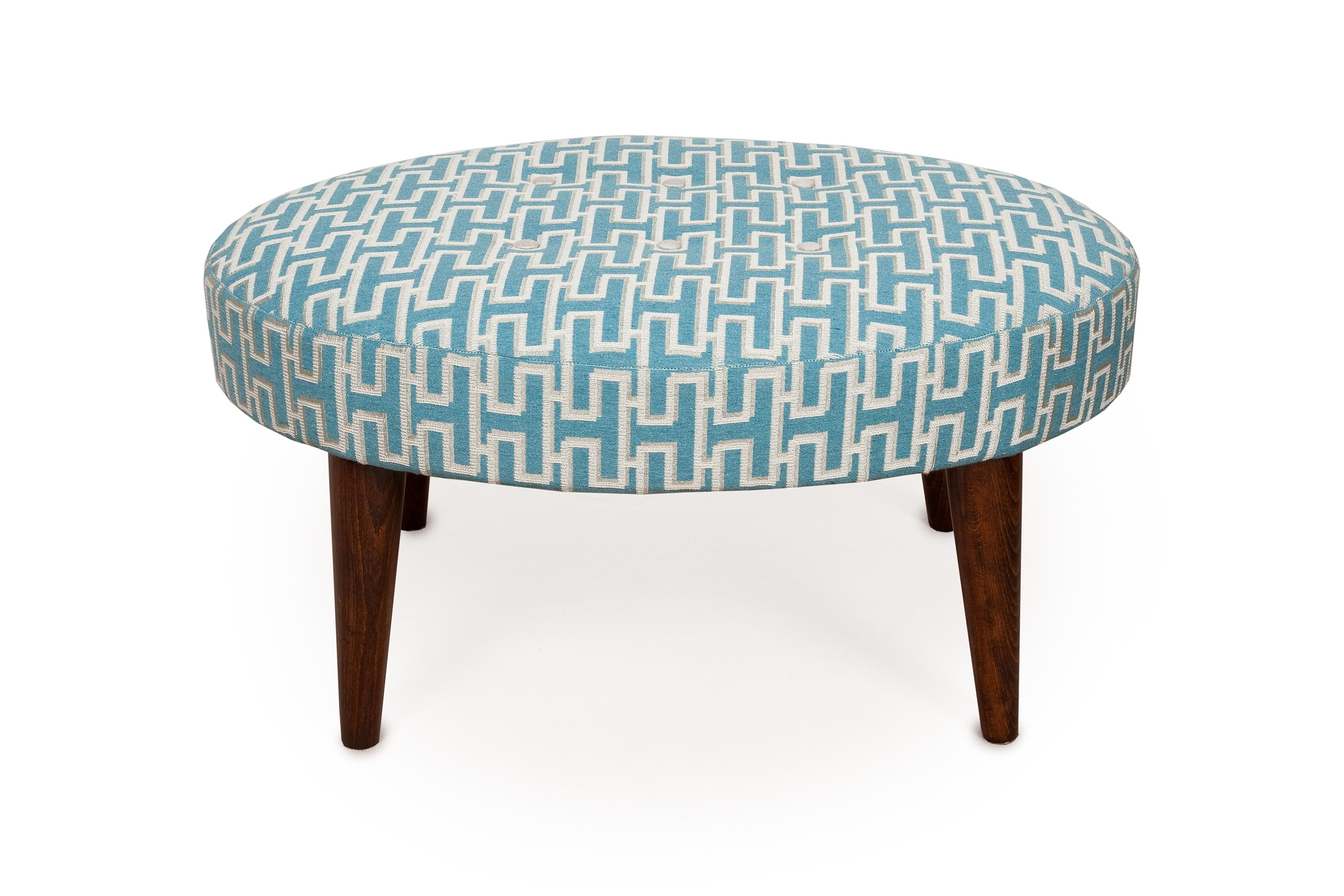Small oval buttoned stool £295 + fabric