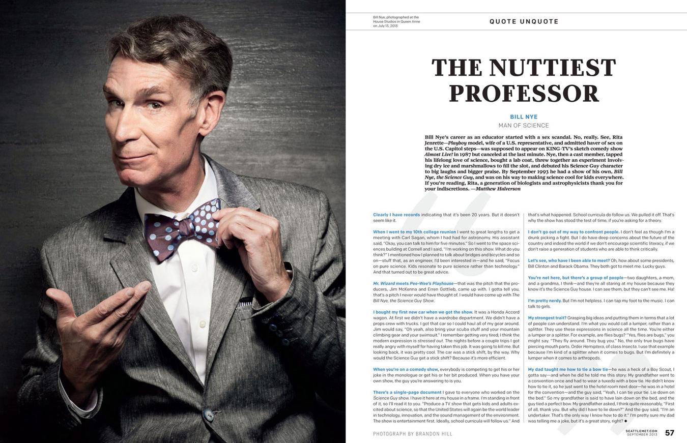 Bill Nye - Seattle Met Magazine