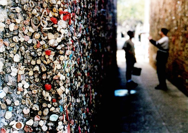 Bubblegum Alley, a nearby and seriously gross tourist attraction