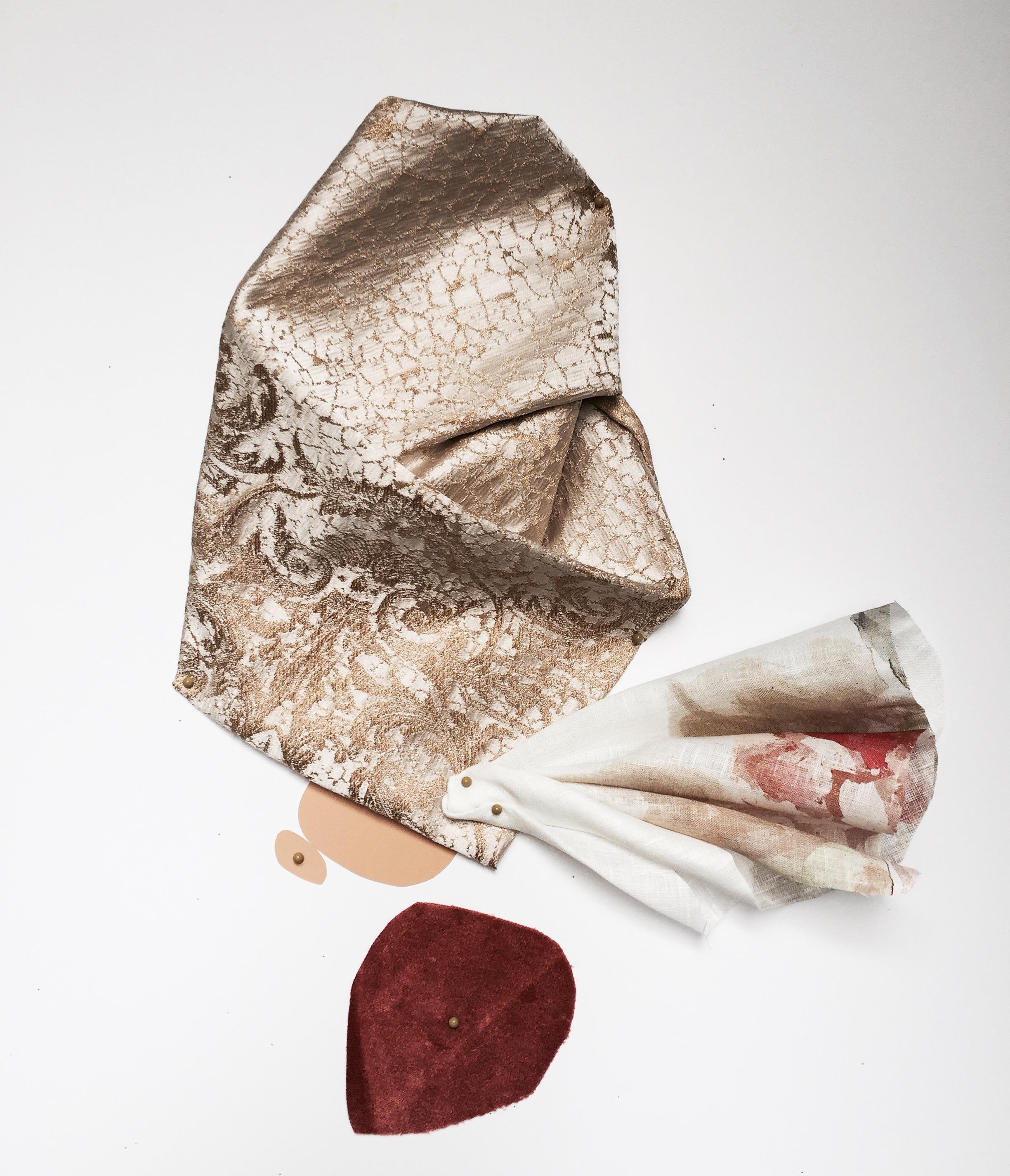 "20"" x 26"" Sculptural Collage, 2017"
