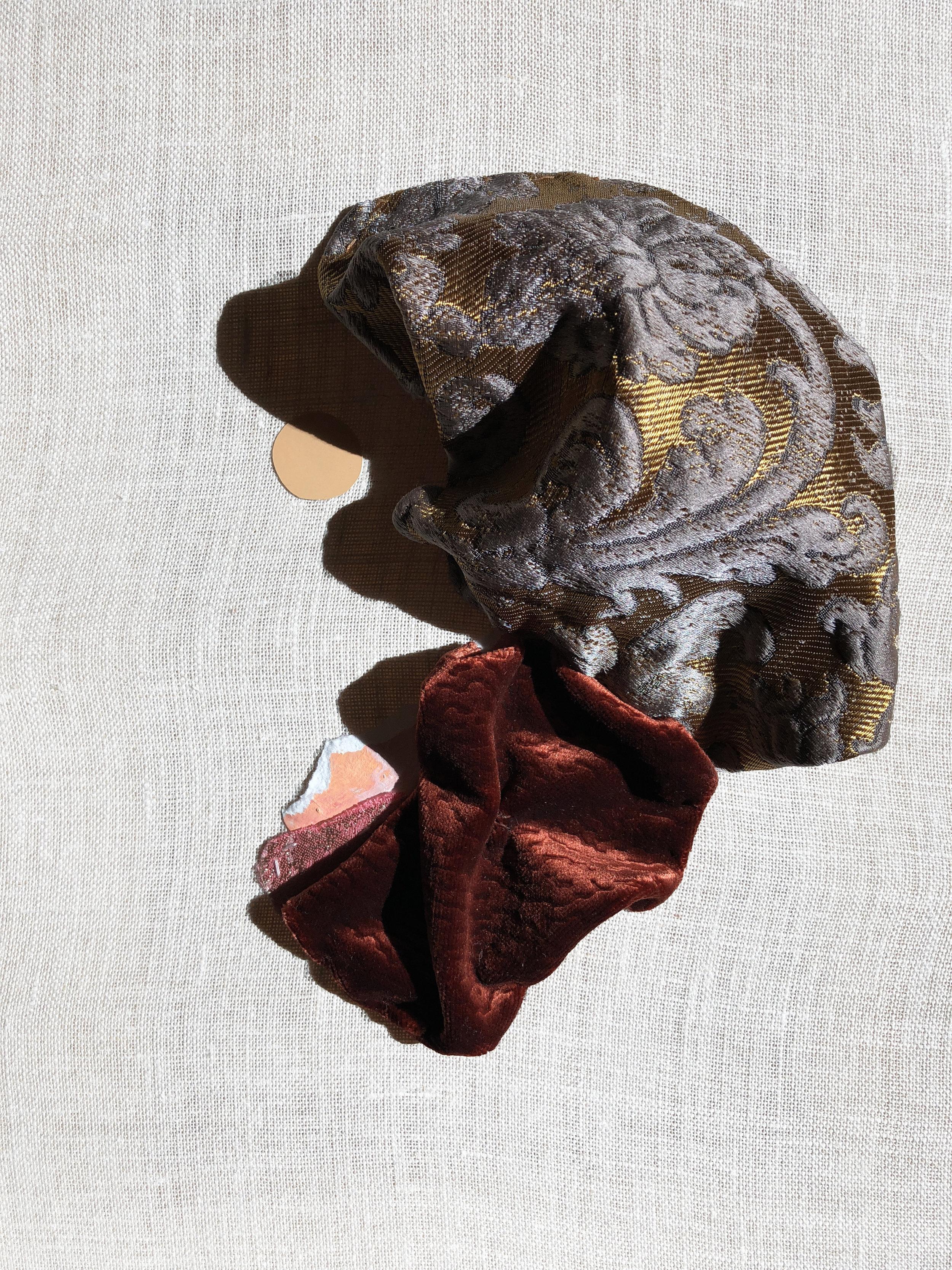 "9"" x 12"" Sculptural Collage on Linen, 2017"