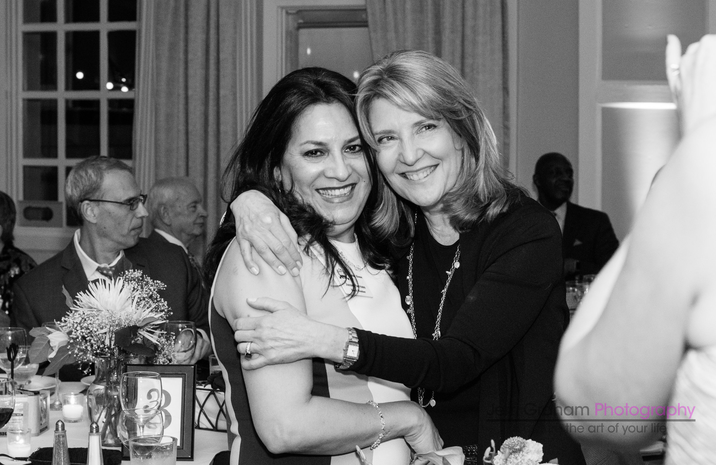 Janned Serrano (left) and Caroline House 2018 Award Honoree Cindy Bigelow (right) at the Starry Night Gala. Cindy is President and CEO of Bigelow Tea. Janned is Executive Assistant and Community Relations Coordinator of Bigelow Tea and is a Caroline House board member.