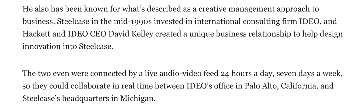 via detroitnews.com re; Jim Hackett taking over as CEO of Ford Motor Co.