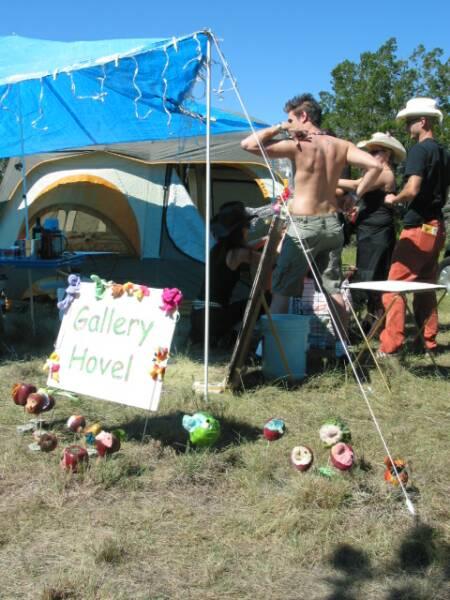 Installation camp art show