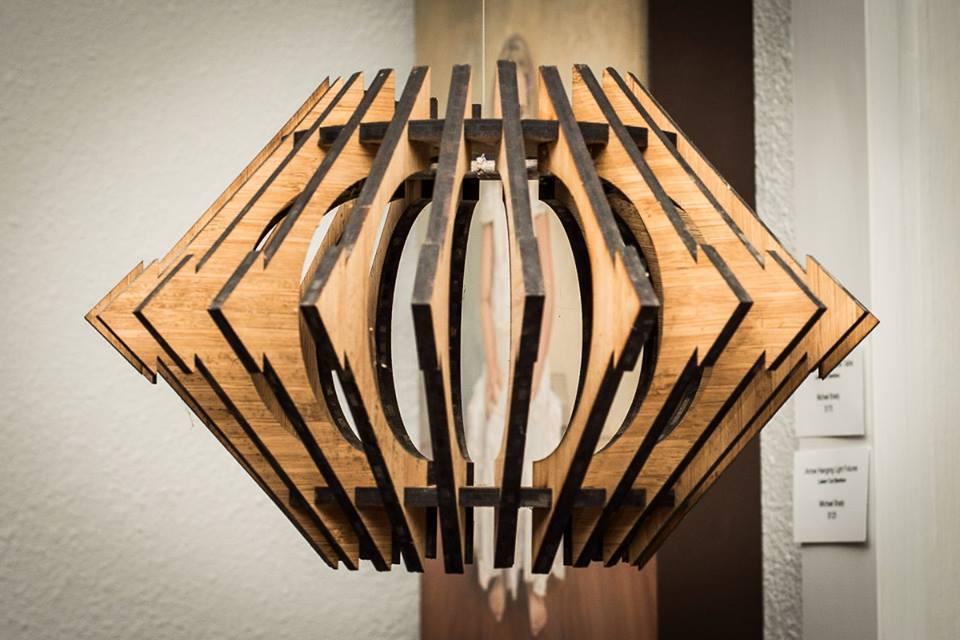 Bamboo Hanging Light Fixture