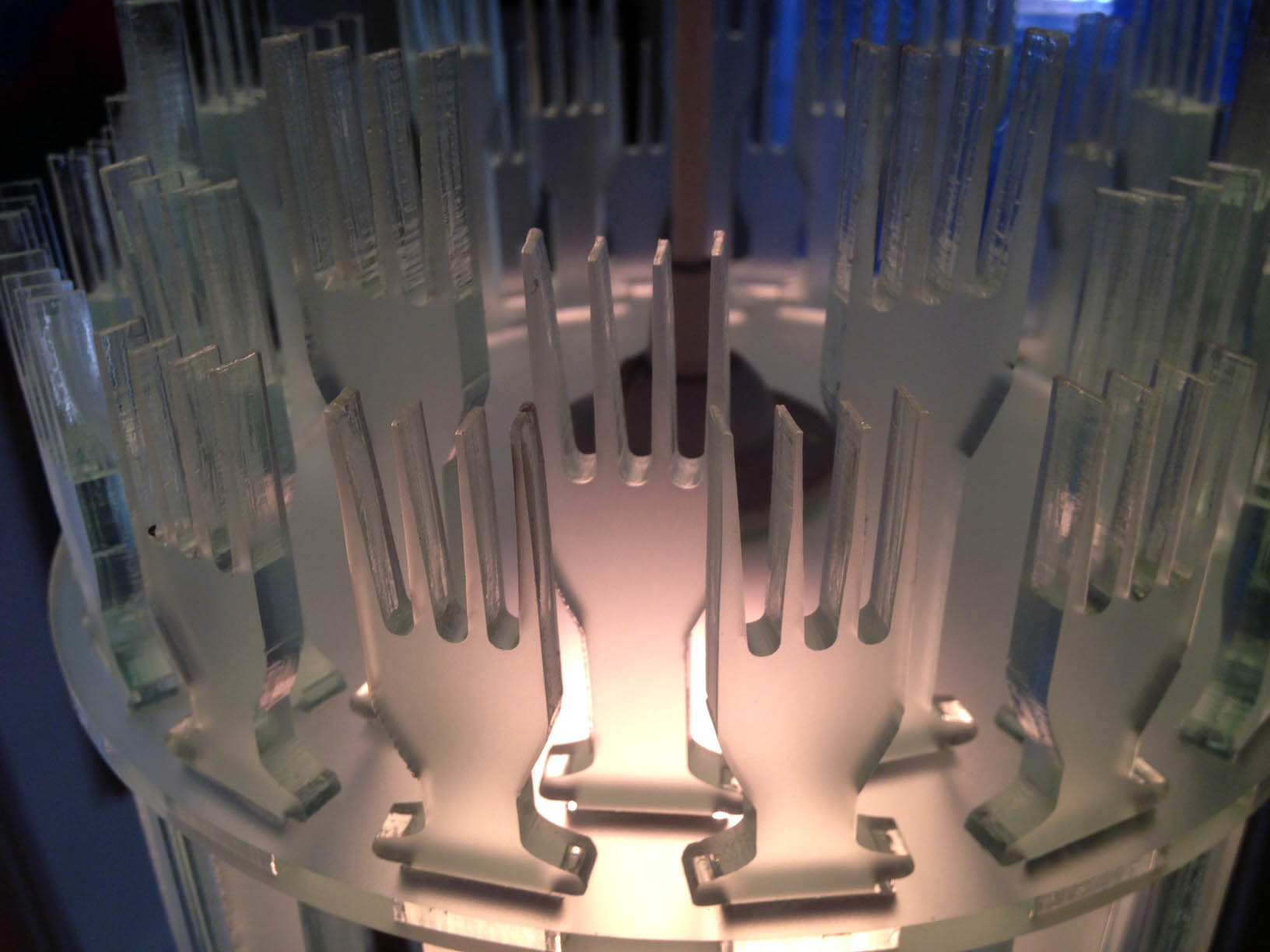 top view of Forks over knives luminaire