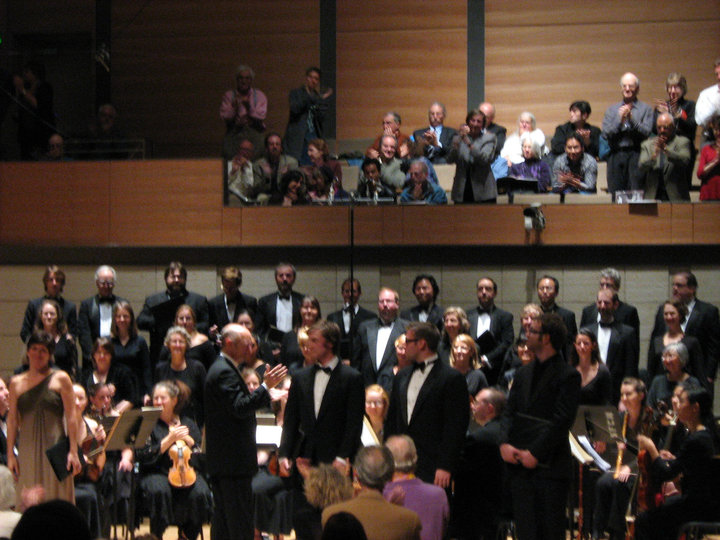 Final bows for Bach's  Mass in B Minor      with Maestro Jeffrey Thomas and the American Bach Soloists and Academy. San Francisco Conservatory Concert Hall, 2010.