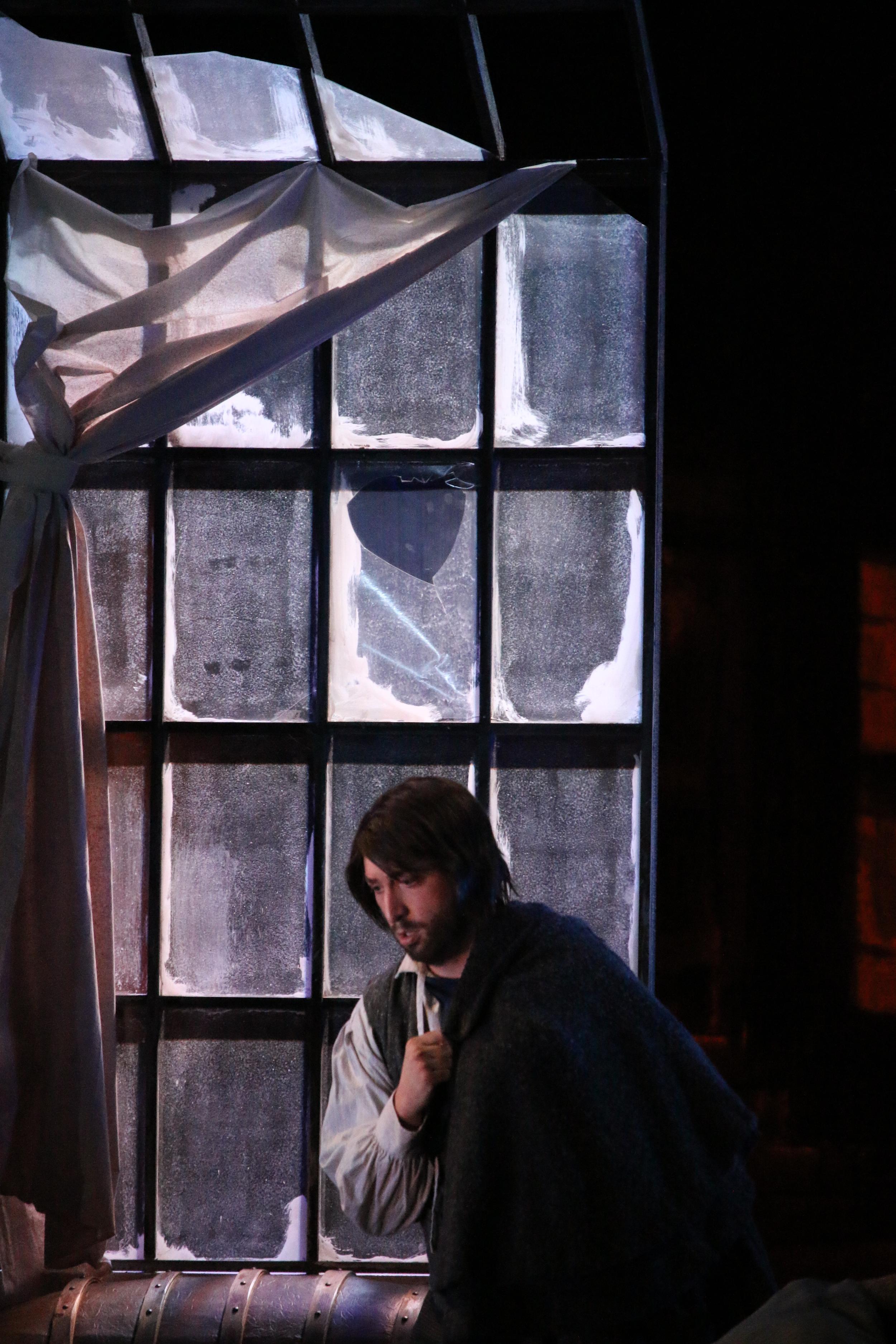 Colline in    La bohème ;   Opera Southwest, March 2015. (© Lawrence Allen, 2015.)