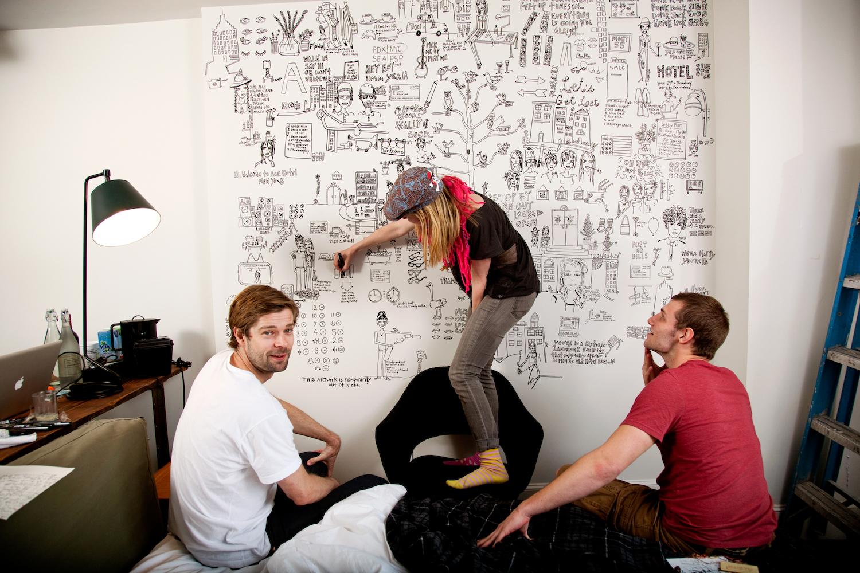 Evan Judson and Anders Pedersen, with Kate Neckel
